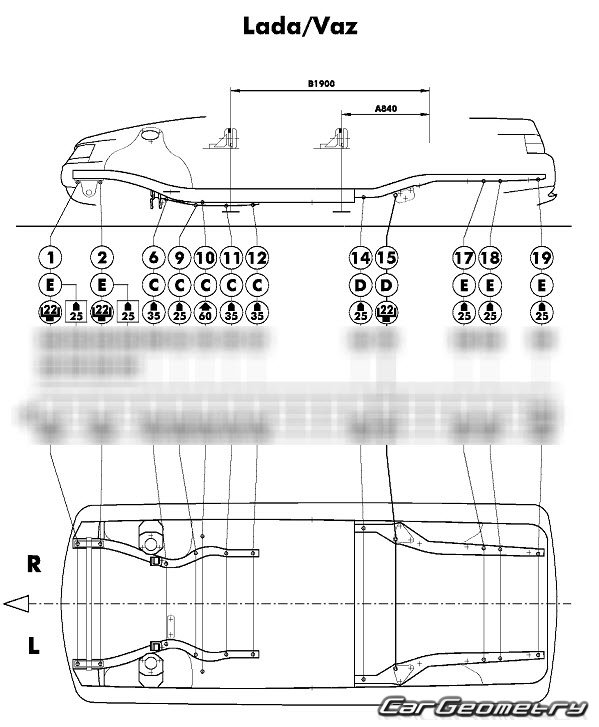Геометрия кузова ваз 2112