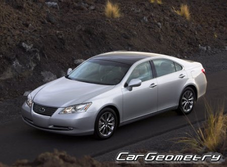 Кузовные размеры Lexus ES350, ES240 2006-2009 (ACV40, GSV40) Collision Repair Manual