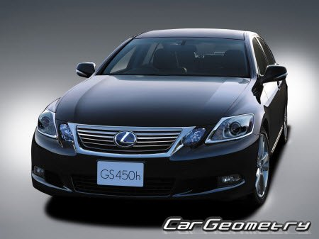 Размеры кузова Lexus GS 450h (GWS191) 2006–2011 Collision Repair Manual