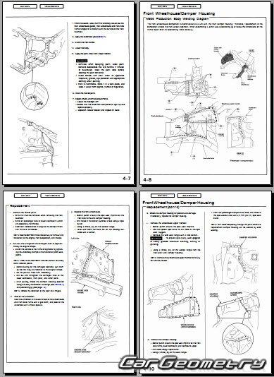 u041a u0443 u0437 u043e u0432 u043d u044b u0435  u0440 u0430 u0437 u043c u0435 u0440 u044b honda odyssey  rl1  1999 2004 usa body repair manual  Honda Odyssey RB1
