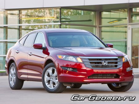 Кузовные размеры Honda Crosstour (TF) 2010-2016 Body Repair Manual