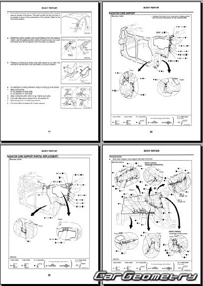 nissan x trail t30 2001 2007 body repair manual. Black Bedroom Furniture Sets. Home Design Ideas