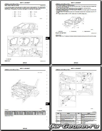 кузова Nissan Qashqai (J10) 2007-2009 Body Repair Manual