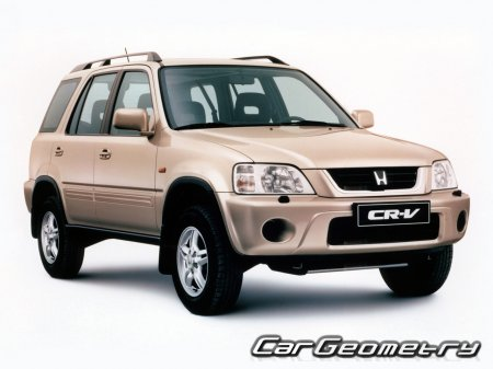 Размеры кузова Honda CR-V 1995-2001 Body Repair Manual