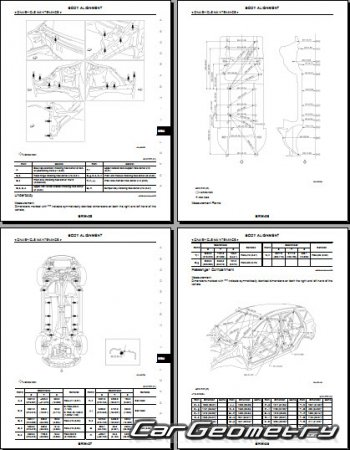 Кузовные размеры Nissan Murano (Z51) 2008–2014 Body Repair Manual