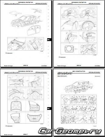 633 Geometricheskie Razmery Kuzova Infiniti G37 G25 Nissan Skyline V36 Sedan 2010 2013 Body Repair Manual