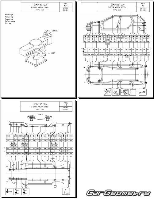 bmw x5 e53 2000 2006 body dimensions. Black Bedroom Furniture Sets. Home Design Ideas