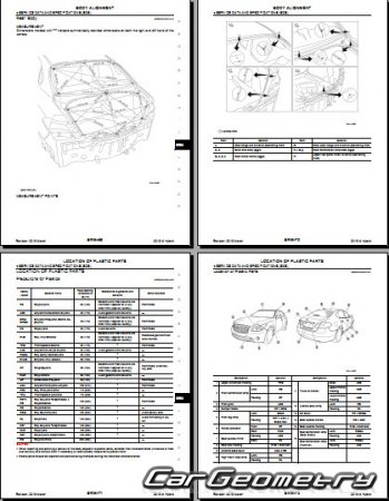Infiniti M35h (HY51) и Nissan Fuga Hybrid 2011-2015 Body Repair Manual