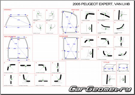 peugeot expert van 2004 2007 body dimensions. Black Bedroom Furniture Sets. Home Design Ideas