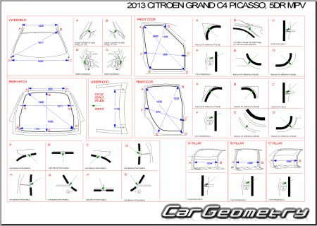 citroen grand c4 picasso 2007 2013 body dimensions. Black Bedroom Furniture Sets. Home Design Ideas