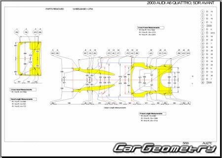 audi a6 c5 проверка геометрии кузова