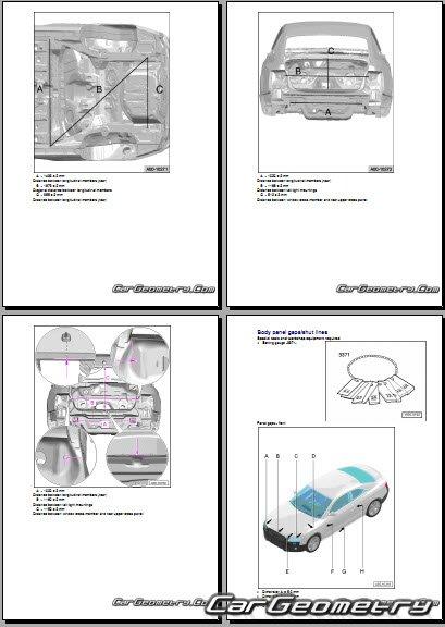 Кузовные размеры Audi A5 Sportback 8t 2009 2014 Body Dimensions