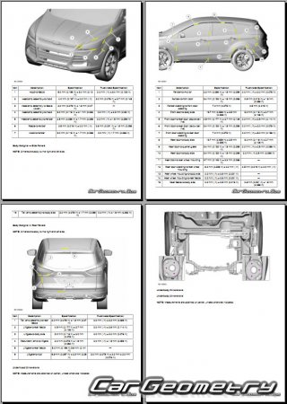Ford Escape 2012-2016 Body dimensions