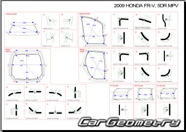 Honda FR-V (BE) 2004-2010 Body dimensions