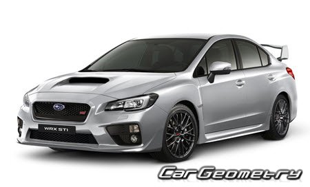 Subaru WRX STI с 2014 (Impreza WRX STI USA) Body Repair Manual