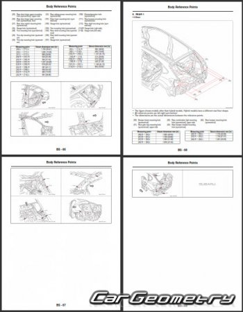 Subaru XV с 2012 (XV, XV Crosstrek, XV Crosstrek Hybrid) Body Repair Manual