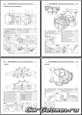 Mitsubishi Carisma 1995-1999 (4DR и 5DR) Body Repair Manual