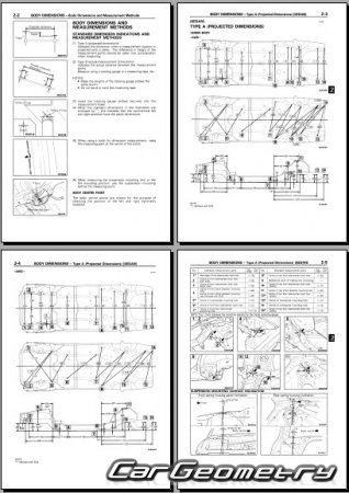 Mitsubishi Galant Sedan 1993–1996 (Sedan) Body Repair Manual