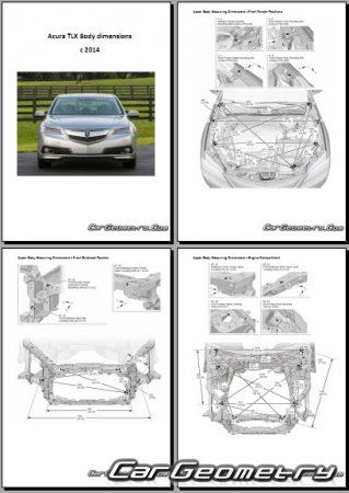 Acura TLX 2014-2020 Body dimensions