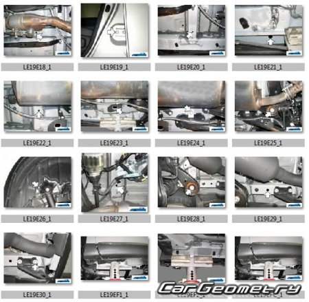 Кузовные размеры Lexus RX450h 2009-2015 (GYL10, GYL15) Collision Repair Manual