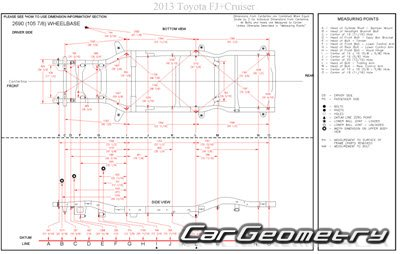 Toyota FJ Cruiser 2007–2014 кузова GSJ10 GSJ15 Collision shop manual