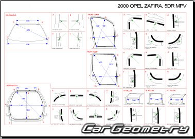 opel zafira a 1999 2005 body dimensions. Black Bedroom Furniture Sets. Home Design Ideas