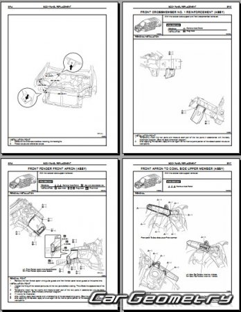 Toyota Highlander Hybrid (MHU48) 2008-2013 Collision shop manual