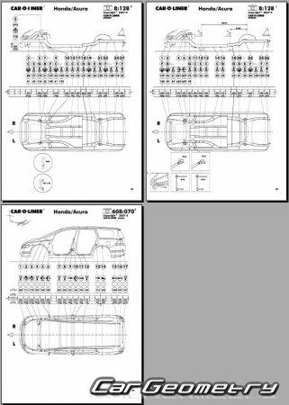 Honda odyssey rb1 rb2 2003 2008 body dimensions for Honda odyssey height