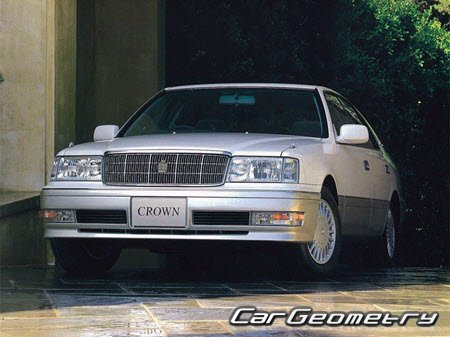 Toyota Crown (JZS15#) 1995–2001 Body dimensions