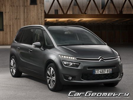 citroen grand c4 picasso 2013 2020 body dimensions. Black Bedroom Furniture Sets. Home Design Ideas