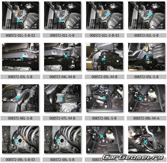 Кузовные размеры Acura TSX (Honda Accord EURO) 2010-2013