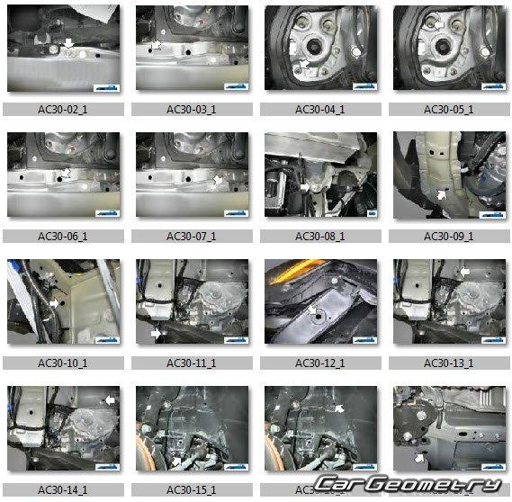 Геометрические размеры кузова Acura RDX 2009-2012 Body