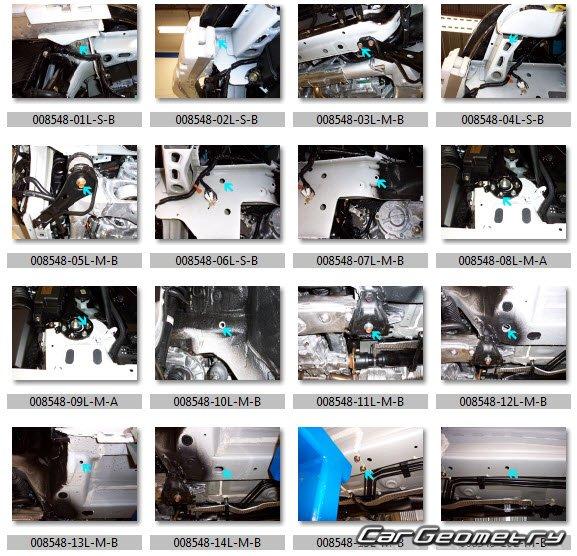 Кузовные размеры Acura RL 2005–2012 Body Repair Manual