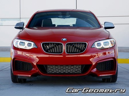 Геометрия BMW 2 Series (F22) 2014-2020 Coupe