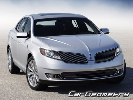 Геометрия кузова Lincoln MKS 2009-2015 Body dimensions