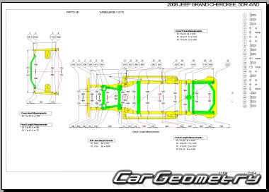 Jeep Grand Cherokee (WK) 2005-2010 Body dimensions