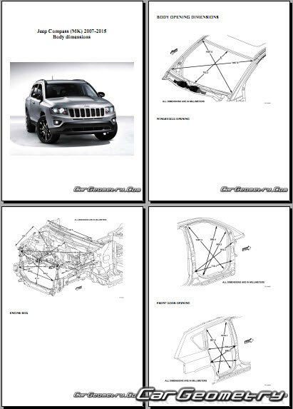 jeep compass mk 2007 2015 body dimensions. Black Bedroom Furniture Sets. Home Design Ideas