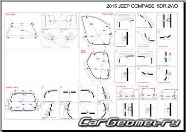 Jeep Compass (MK) 2007-2017 Body dimensions
