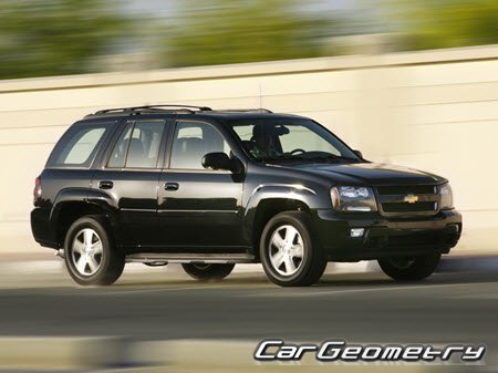 Chevrolet TrailBlazer 2002–2010 Body dimensions