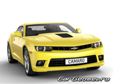 Кузовные размеры Chevrolet Camaro (Coupe, Convertible) 2010-2015