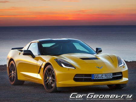 Размеры кузова Chevrolet Corvette Stingray (C7) 2014-2022 (Coupe)