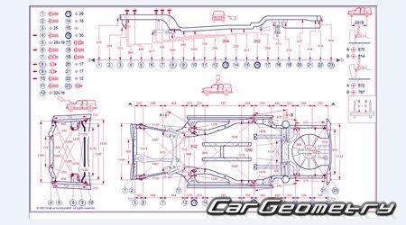 Контрольные размеры кузова Ford Escape 2008 2012 Body Dimensions