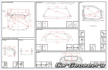 Кузовные размеры Dodge Challenger (LC) 2008–2015 Body dimensions