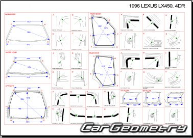 Lexus LX450 (FZJ80) 1996–1997 Collision shop manual