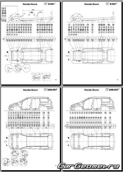 u041a u0443 u0437 u043e u0432 u043d u044b u0435  u0440 u0430 u0437 u043c u0435 u0440 u044b honda odyssey  rl1  1999 2004 usa body repair manual Honda Odyssey Absolute Bose Speaker Manuals