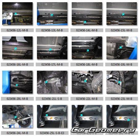 Размеры кузова Hyundai i30 (GDe) 2012-2017 5DR Hatchback Body Repair Manual