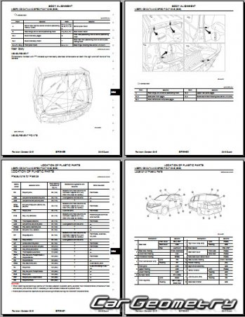 Nissan Quest (E52) 2011-2017 Body Repair Manual