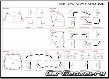 Toyota RAV4 (ASA42/44, ALA40/49, ZSA42/44) 2013-2017 Collision Repair Manual