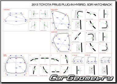 Toyota Prius PHV (ZVW35) 2012-2015 Collision Repair Manual