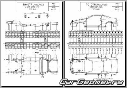 Toyota Paseo (EL54) 1996-1999 Collision Repair Manual